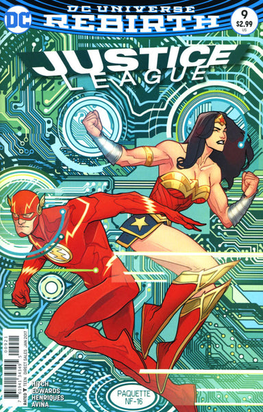 JUSTICE LEAGUE VOL 3 #9 COVER VARIANT B PAQUETTE