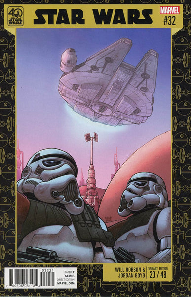 STAR WARS #32 BARTEL STAR WARS 40TH ANNIVERSARY VAR
