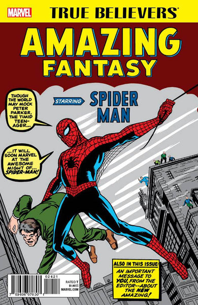 TRUE BELIEVERS AMAZING FANTASY STARRING SPIDER-MAN
