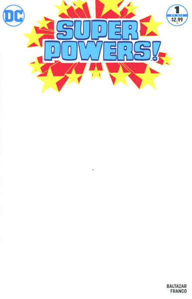 SUPER POWERS VOL 4 #1 COVER VARIANT C BLANK