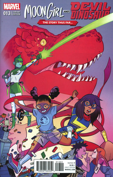 MOON GIRL & DEVIL DINOSAUR #13 COVER VARIANT B STORY THUS FAR