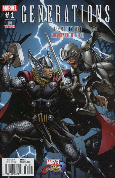 GENERATIONS UNWORTHY THOR & MIGHTY THOR #1 MARVEL VS CAPCOM