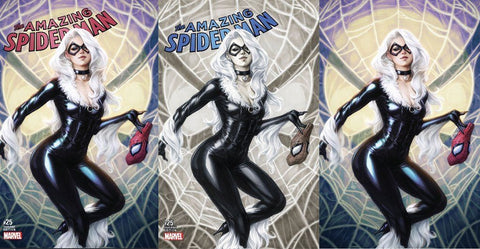 AMAZING SPIDER-MAN #25 COMICXPOSURE ARTGERM 3 PACK