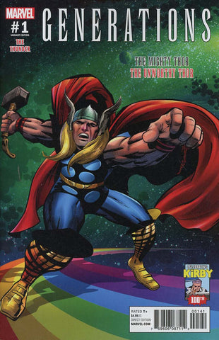 GENERATIONS UNWORTHY THOR & MIGHTY THOR #1 KIRBY 100 VAR