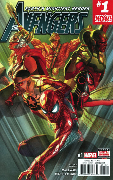 AVENGERS VOL 6 #1 2ND PTG ALEX ROSS VAR NOW