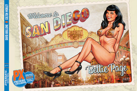 SDCC 2017 BETTIE PAGE #1 LINSNER VARIANT