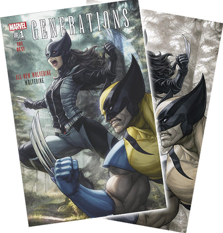 Copy of GENERATIONS WOLVERINE & ALL-NEW WOLVERINE #1 ARTGERM CONVENTION 2 PACK EXCLUSIVE