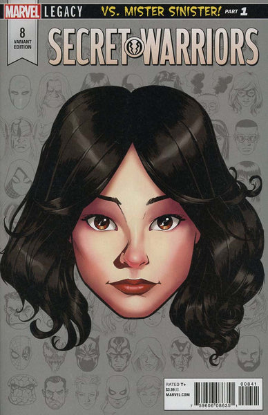 SECRET WARRIORS #8 MCKONE LEGACY HEADSHOT VAR LEG
