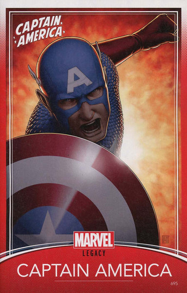 CAPTAIN AMERICA #695 CHRISTOPHER TRADING CARD VAR LEG