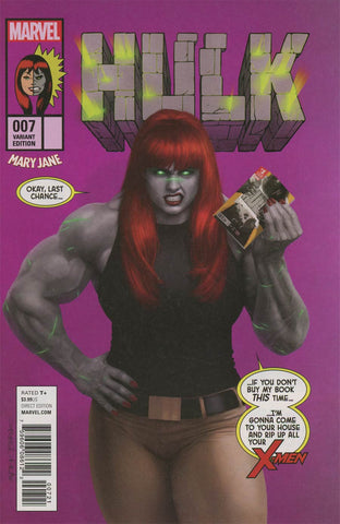 HULK #7 RAHZZAH MARY JANE VAR