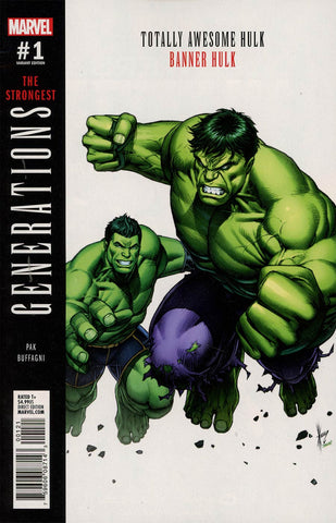 GENERATIONS BANNER HULK & TOTALLY AWESOME HULK #1 KEOWN VAR