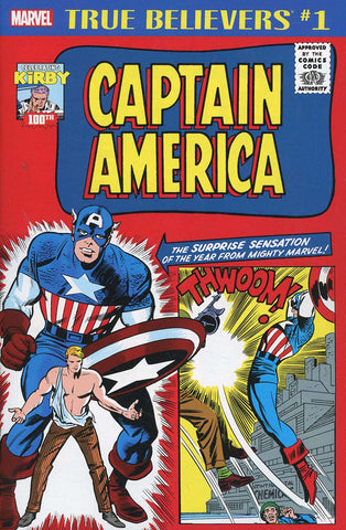 TRUE BELIEVERS KIRBY 100TH CAPTAIN AMERICA #1