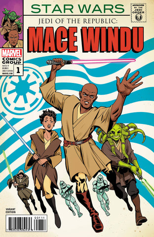 STAR WARS JEDI REPUBLIC MACE WINDU #1 (OF 5) HOMAGE VAR