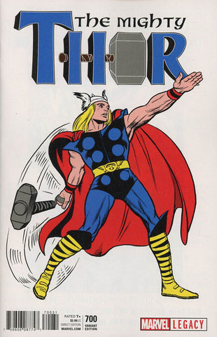 MIGHTY THOR #700 KIRBY 1965 T-SHIRT VAR LEG