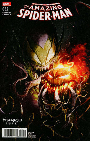 AMAZING SPIDER-MAN #32 VENOMIZED GREEN GOBLIN VAR