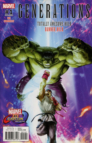 GENERATIONS BANNER HULK & TOTALLY AWESOME HULK #1 MARVEL VS CAPCOM VAR