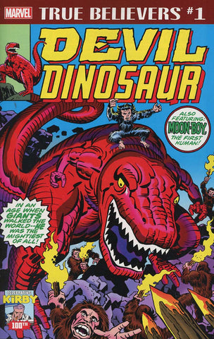 TRUE BELIEVERS KIRBY 100TH AVENGERS DEVIL DINOSAUR #1