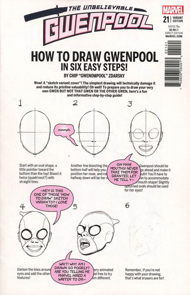 GWENPOOL #21 ZDARSKY HOW TO DRAW VAR LEG