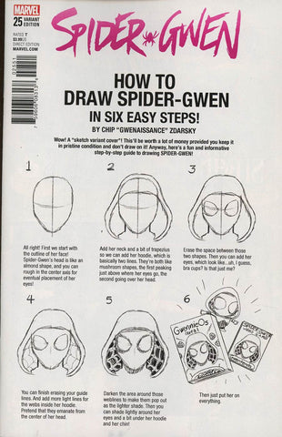 SPIDER-GWEN #25 ZDARSKY HOW TO DRAW VAR LEG