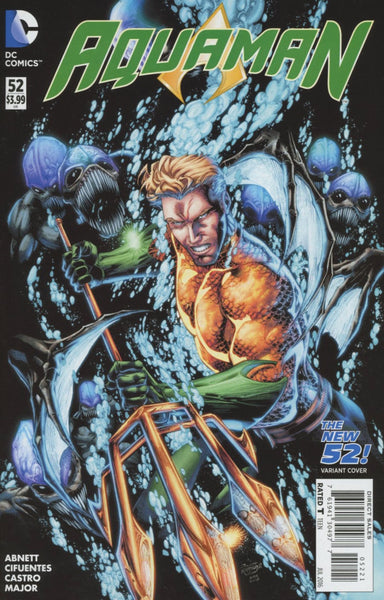 AQUAMAN VOL 5 #52 BRETT BOOTH NEW 52 HOMAGE VARIANT