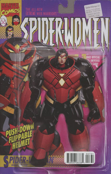 SPIDER-WOMAN #7 CHRISTOPHEIR ACTION FIGURE VAR SWO