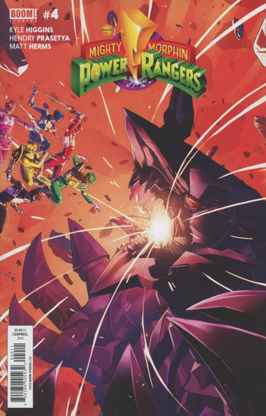 MIGHTY MORPHIN POWER RANGERS #4 1ST PRINT MAIN COVER A