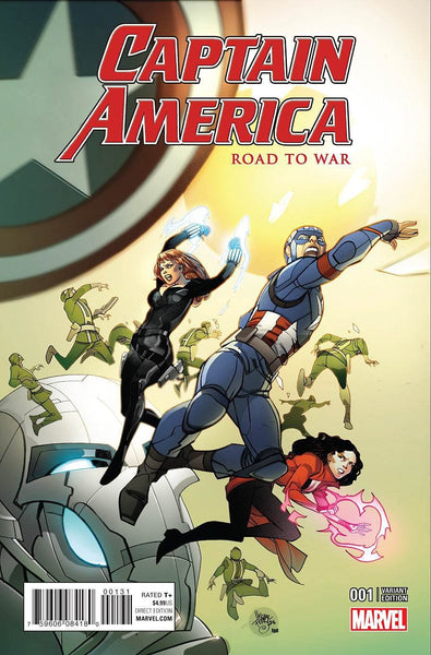 CAPTAIN AMERICA ROAD TO WAR #1 PASQUAL FERRY VARIANT