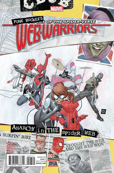 WEB WARRIORS #7 1st PRINT COVER