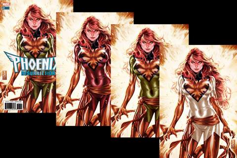 PHOENIX RESURRECTION RETURN JEAN GREY #1 (OF 5) MARK BROOKS 4 PACK EXCLUSIVE