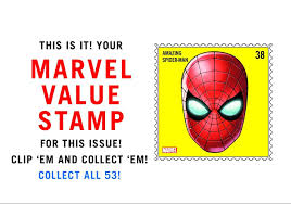 MARVEL VALUE STAMPS 15 PACK