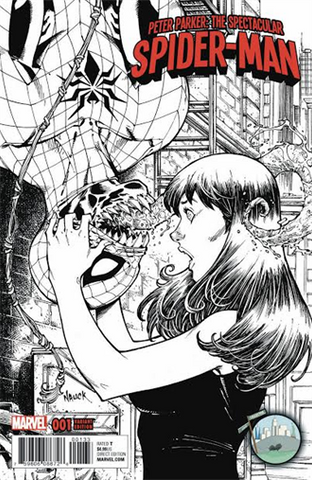 PETER PARKER SPECTACULAR SPIDER-MAN #1 NYCC TODD NAUCK B&W