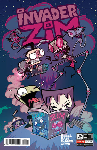 INVADER ZIM #1 REBEL BASE COMICS EXCLUSIVE