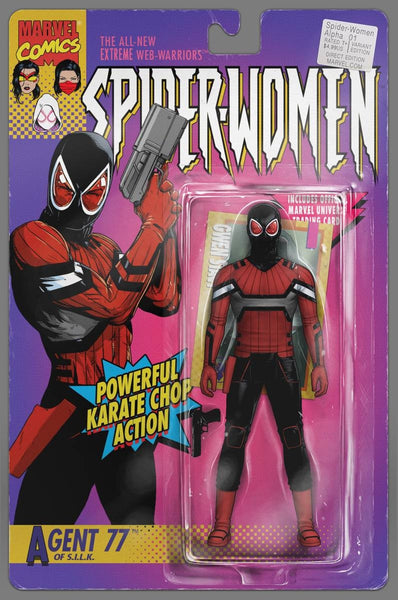SPIDER-WOMEN ALPHA #1 J TYLER CHRISTOPHER ACTION FIGURE VARIANT