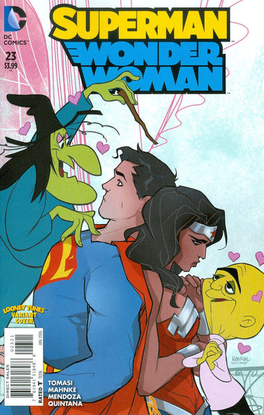 SUPERMAN WONDER WOMAN #23 LOONEY TUNES VAR ED