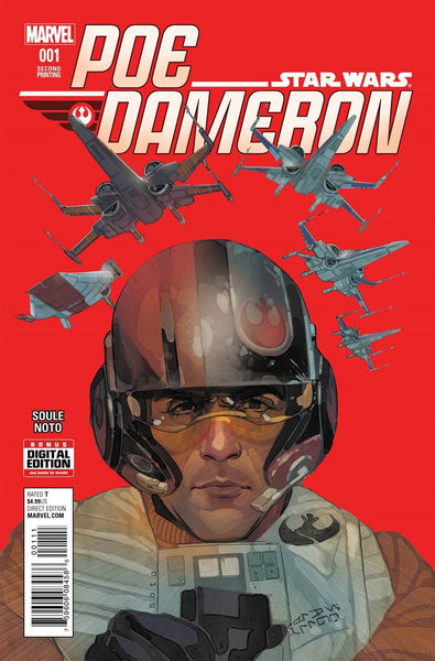 STAR WARS POE DAMERON #1 2nd PRINT PHIL NOTO COVER