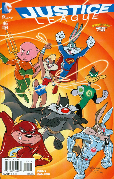 JUSTICE LEAGUE #46 LOONEY TUNES VAR ED