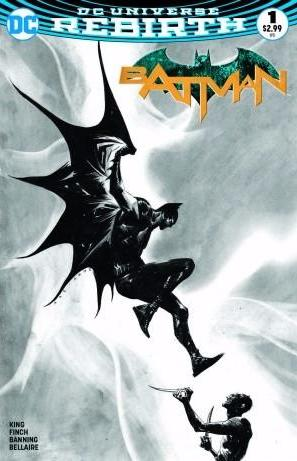 BATMAN VOL 3 #1 DF EXCLUSIVE JAE LEE B&W VARIANT
