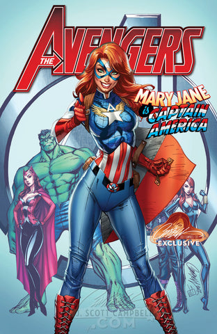 AVENGERS #8 J SCOTT CAMPBELL 3 PACK