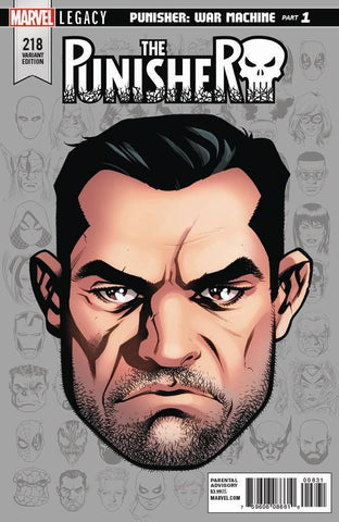 PUNISHER LEG #218 MCKONE LEGACY HEADSHOT VAR
