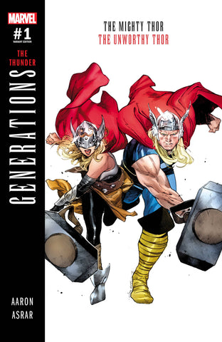 GENERATIONS UNWORTHY THOR & MIGHTY THOR #1 COIPEL VAR