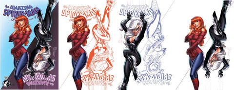 AMAZING SPIDER-MAN RENEW YOUR VOWS #13 LEG UNKNOWN EXCLUSIVE J. SCOTT CAMPBELL 4 PACK