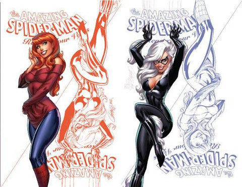 AMAZING SPIDER-MAN RENEW YOUR VOWS #13 LEG UNKNOWN EXCLUSIVE J. SCOTT CAMPBELL CVR B&C