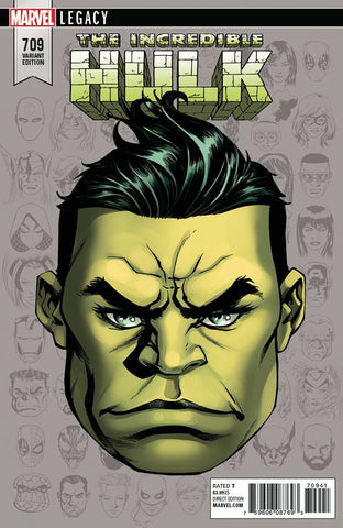 INCREDIBLE HULK #709 MCKONE LEGACY HEADSHOT VAR LEG