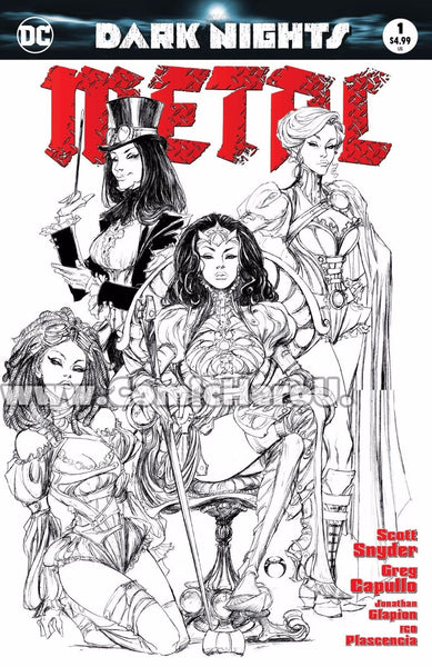 DARK NIGHTS METAL #1 (OF 6) JOE BENITEZ HERO UNIVERSITY B&W