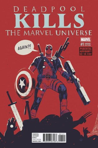 DEADPOOL KILLS MARVEL UNIVERSE AGAIN #1 WALSH VARIANT