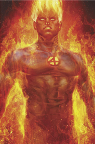 FANTASTIC FOUR #1 UNKNOWN HUMAN TORCH ARTGERM VIRGIN EXCLUSIVE