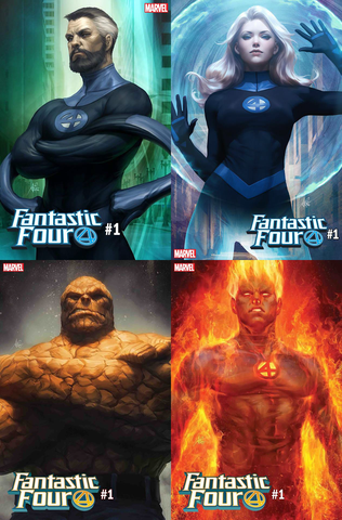 FANTASTIC FOUR #1 ARTGERM 4 PACK