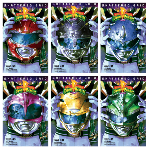 MIGHTY MORPHIN POWER RANGERS #25 NON POLYBAG 6 PACK