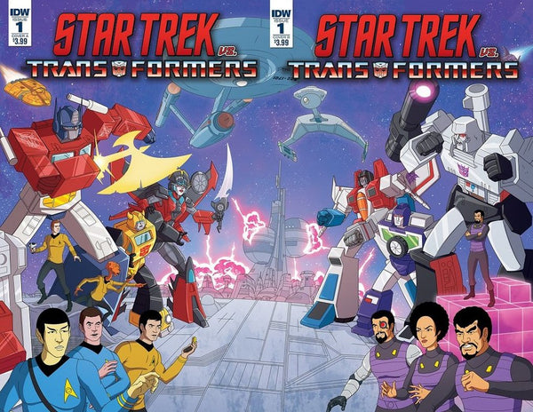 STAR TREK VS TRANSFORMERS #1 (OF 4)  CONNECTING 2 PACK