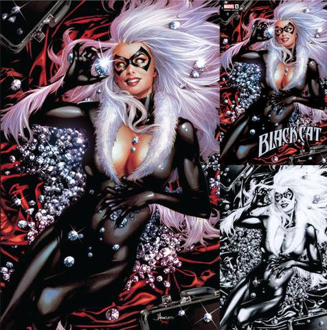 BLACK CAT #1 JAY ANACLETO UNKNOWN EXCLUSIVE 3 PACK